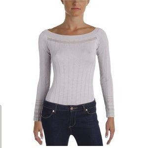 Marled Off-The-Shoulder Bodysuit